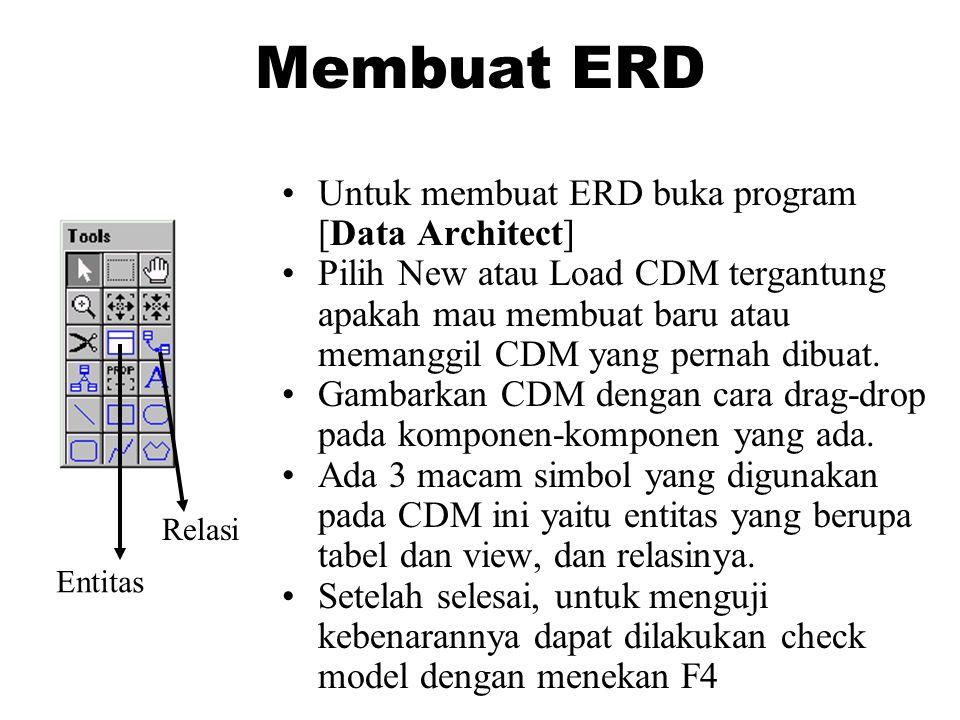 Membuat ERD Untuk membuat ERD buka program [Data Architect]